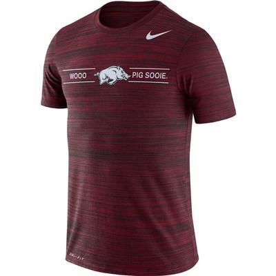 Arkansas Nike Men's Dri-fit Velocity Short Sleeve Tee