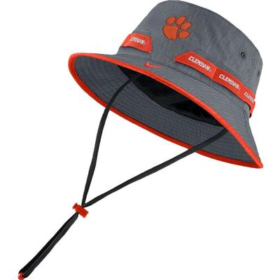 Clemson Nike Sideline Dry Bucket Hat FLINT_GREY
