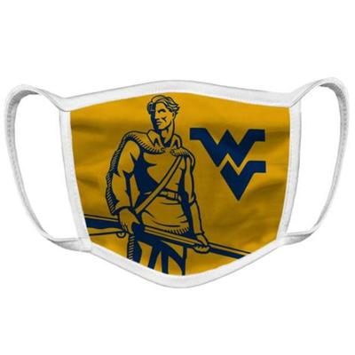 West Virginia Mountaineer Logo Face Mask