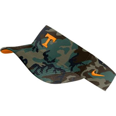 Tennessee Nike Men's Washed Camo Visor