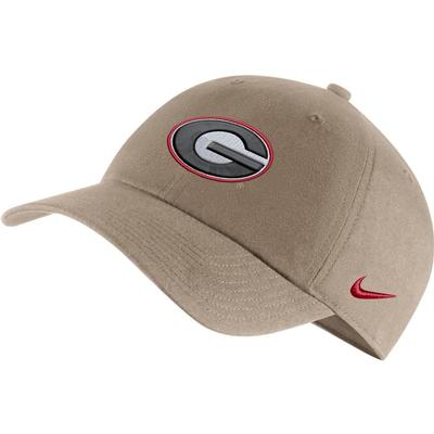 Georgia Nike Men's H86 Logo Adjustable Hat KHAKI