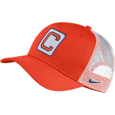 Clemson Nike Vault C99 Trucker W/ Block Patch Adjustable Hat