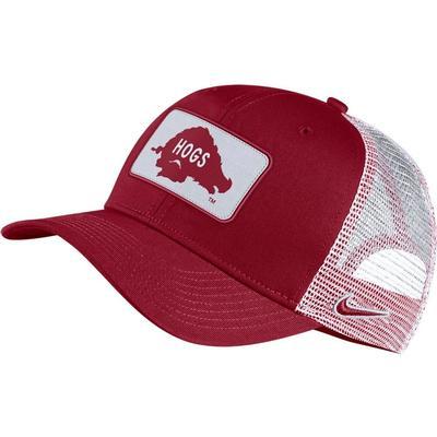 Arkansas Nike Men's Vault Trucker Adjustable Hat