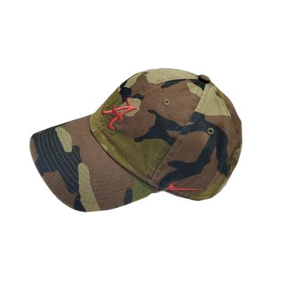 Alabama Nike Men's H86 Washed Camo Adjustable Hat