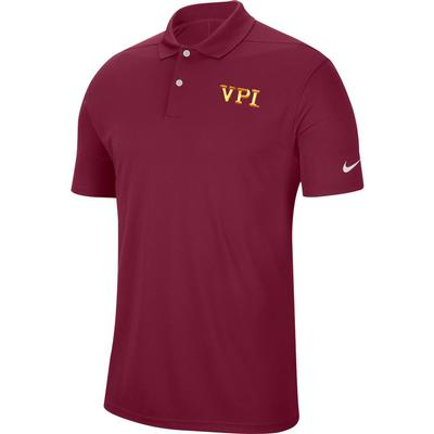 Virginia Tech Nike Golf VPI Dry Victory Solid Polo MAROON