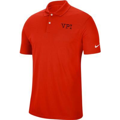 Virginia Tech Nike Golf VPI Dry Victory Solid Polo ORANGE