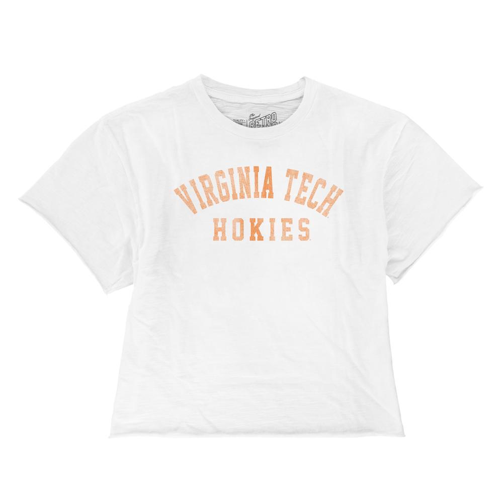 Virginia Tech Boyfriend Cropped Vintage Arch Tee