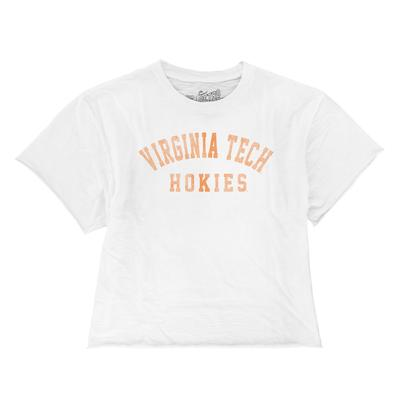 Virginia Tech Boyfriend Cropped Vintage Arch Tee