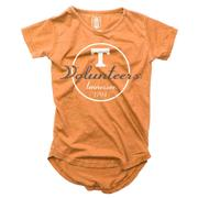 Tennessee Girls Script Circle Hi Low Short Sleeve Tee