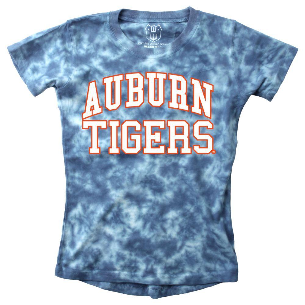 Auburn Youth Girls Tie Dye Short Sleeve Tee