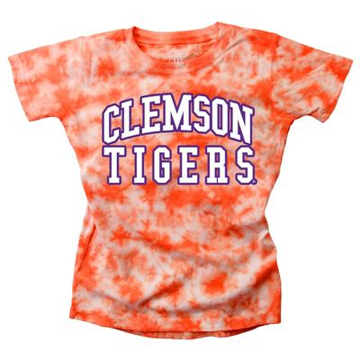 Clemson Youth Girls Tie Dye Short Sleeve Tee