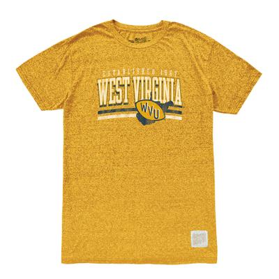 West Virginia Men's Retro Brand Mock Twist Tee
