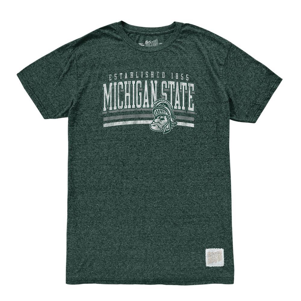 Michigan State Men's Retro Brand Mock Twist Tee