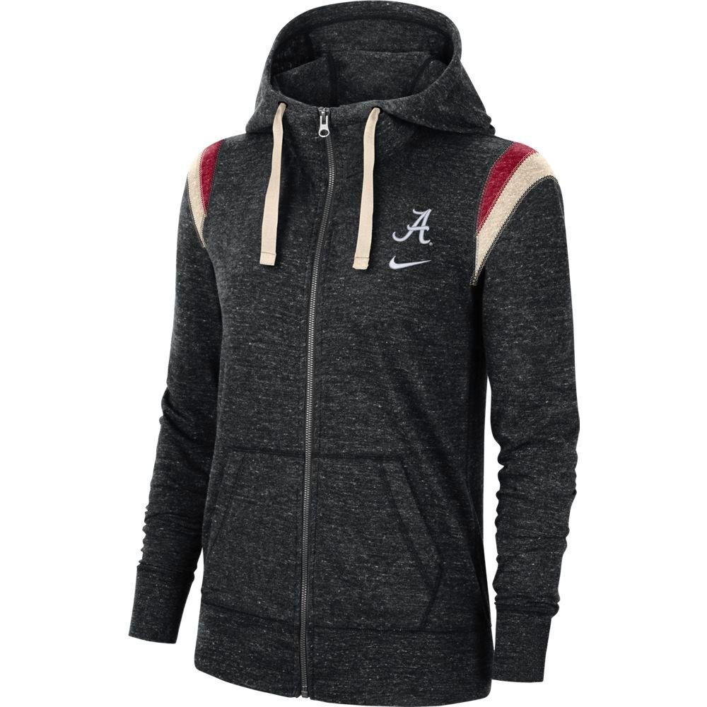 Alabama Nike Women's Full Zip Vintage Gym Hoodie