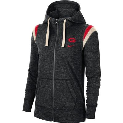 Georgia Nike Women's Full Zip Vintage Gym Hoodie