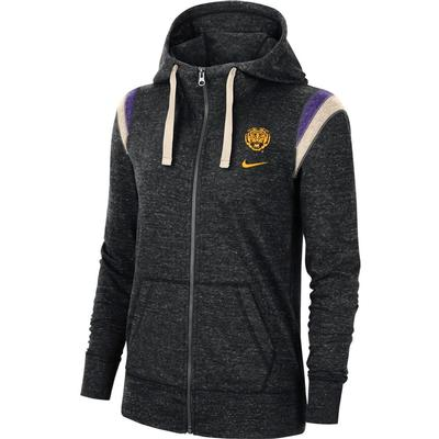 LSU Nike Women's Full Zip Vintage Gym Hoodie