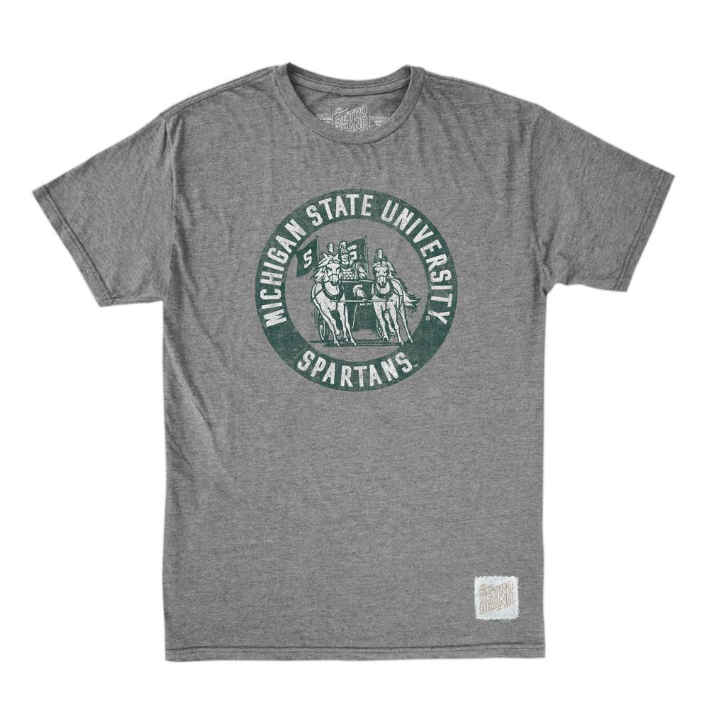 Michigan State Retro Brand Circle Spartan Tee