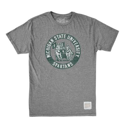 Michigan State Retro Brand Circle Spartan Tee