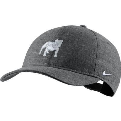 Georgia Nike Men's L91 Black Chambray Adjustable Hat