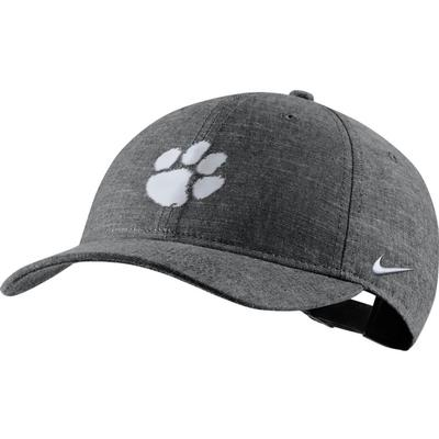 Clemson Nike Men's L91 Black Chambray Adjustable Hat