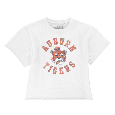 Auburn Retro Brand Cropped Boyfriend Tee