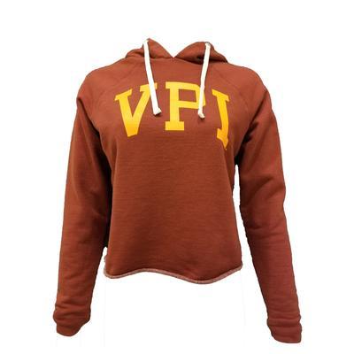 Virginia Tech Retro Brand VPI Cropped Hoodie