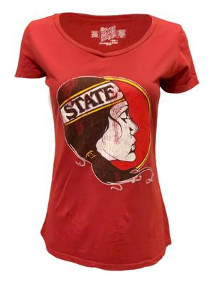 Florida State Retro Brand Lady Seminole V Neck Tee