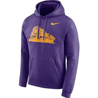 LSU Nike Men's Fleece Club Vault Hoodie