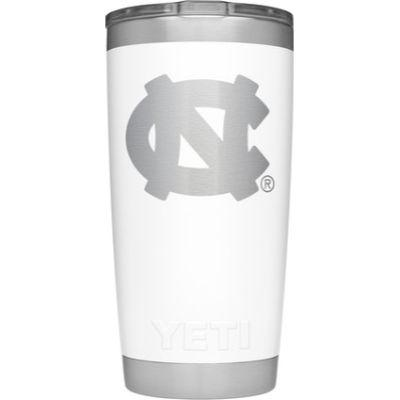 UNC Yeti 20oz White Powder Coated Rambler