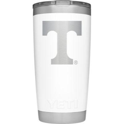 Tennessee Yeti 20oz White Powder Coated Rambler
