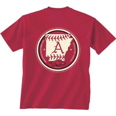 Arkansas YOUTH Baseball State Short Sleeve Tee