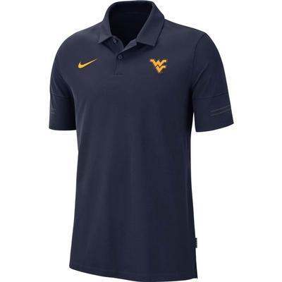 West Virginia Nike Men's Flex Coach's Polo