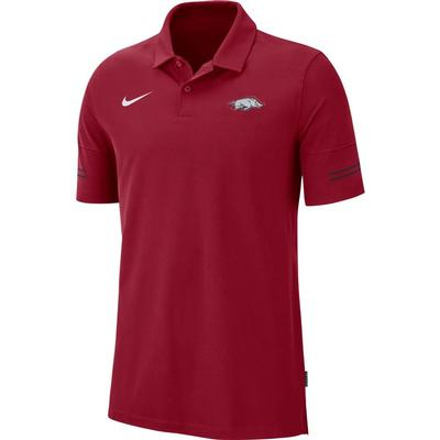 Arkansas Nike Men's Flex Coach's Polo