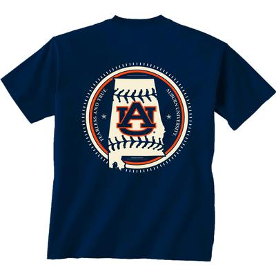 Auburn YOUTH Baseball State Short Sleeve Tee