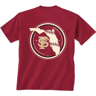 Florida State YOUTH Baseball State Short Sleeve Tee
