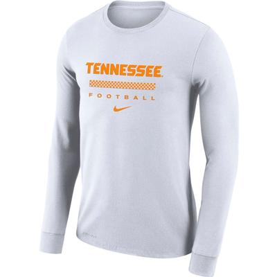 Tennessee Nike Men's Dri-fit Cotton Icon Word Long Sleeve Tee