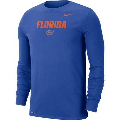 Florida Nike Men's Dri-fit Cotton Lockup Long Sleeve Tee