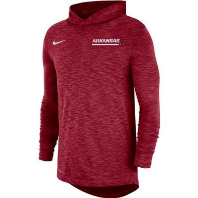 Arkansas Nike Men's Dri-fit Cotton Slub Hoody Tee
