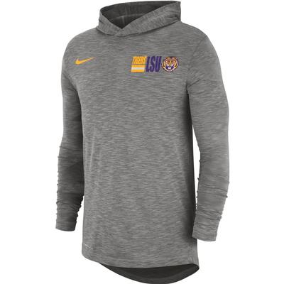 LSU Nike Men's Dri-fit Cotton Slub Hoody Tee