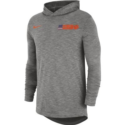 Clemson Nike Men's Dri-fit Cotton Slub Hoody Tee
