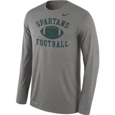 Michigan State Nike Men's Legend Football Long Sleeve Tee