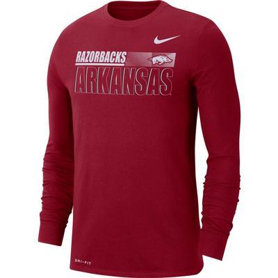 Arkansas Nike Men's Legend Team Issued Long Sleeve Tee