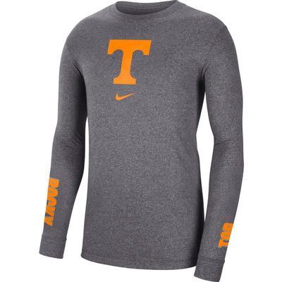 Tennessee Nike Men's Marled Logo Long Sleeve Tee
