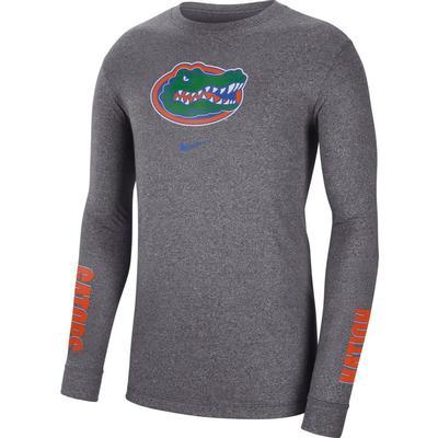 Florida Nike Men's Marled Logo Long Sleeve Tee