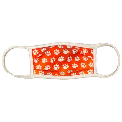 Clemson Tiger Paw Face Mask - Color Washed
