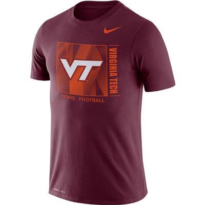 Virginia Tech Nike Men's Dri-fit Cotton Team Issue Short Sleeve Tee