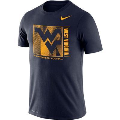 West Virginia Nike Men's Dri-fit Cotton Team Issue Short Sleeve Tee