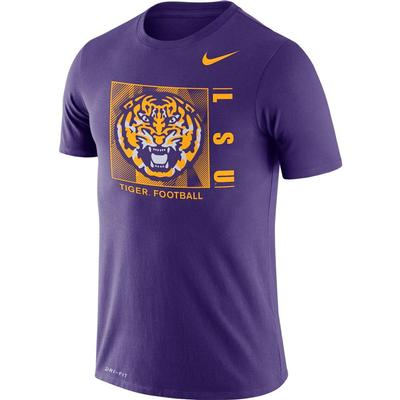 LSU Nike Men's Dri-fit Cotton Team Issue Short Sleeve Tee