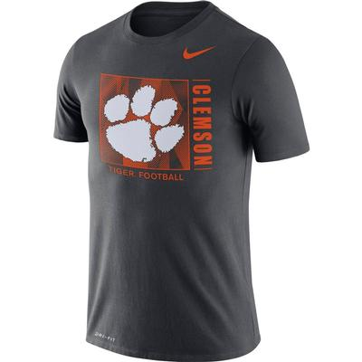 Clemson Nike Men's Dri-fit Cotton Team Issue Short Sleeve Tee