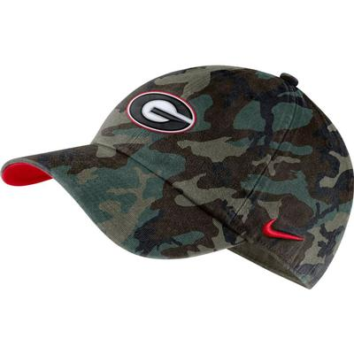 Georgia Nike Men's H86 Washed Camo Adjustable Hat